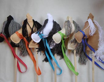 Stick Ponies, Stick Pony, Stick Horse, Stick Horses, Hobby Horse, Party Stick Ponies, Toy horse, Child's Stick Horse or Pony