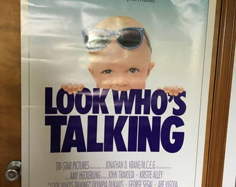 Movie Poster, Look Who's Talking with John Travolta.