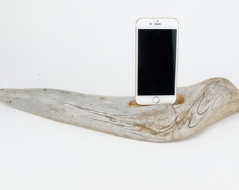 Docking Station for iPhone, iPhone dock, iPhone Charger, iPhone Charging Station, iPhone driftwood dock, wood iPhone dock/ Driftwood-No. 950