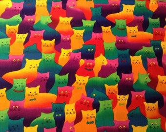 Crazy Cat Quilting Fabric, Hi Fashion Fabric, Fat Quarter
