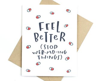 funny get well card - web md
