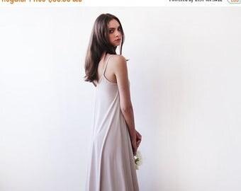 Spring Sale Light champagne maxi straps dress , Maxi champagne basic lining dress 1026