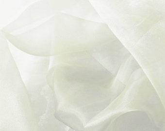 Crystal Organza White 58 Inch Fabric by the Yard - 1 yard