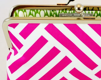 CLUTCH in Pink (Orchard) Parquet - LARGE