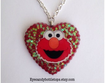 Elmo Resin Charm Necklace