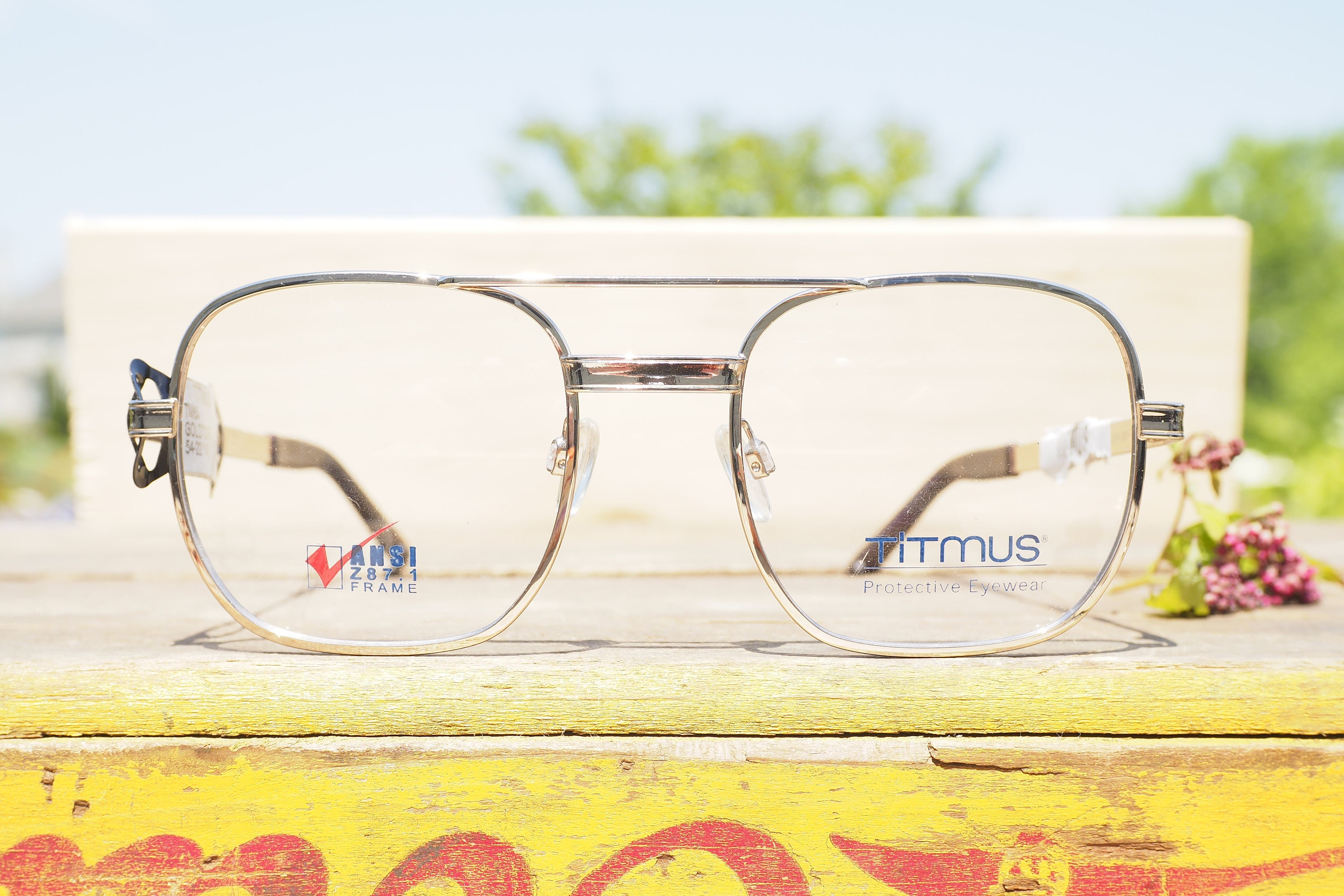 Vintage Eyeglass 1970\'s Safety Glasses All metal Frames new Old ...