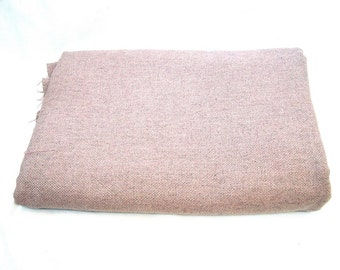 """Vintage Wool Fabric Winter fabric in gray and pink 118"""""""