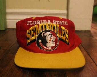 FSU florida state seminoles snapback vtg NCAA logo 7 hat