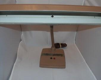 Vintage Metal Industrial Gooseneck Desk Table Lamp Beige Steampunk