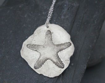Starfish Jewelry, Starfish Necklace, Silver Starfish Necklace,Ocean Necklace, Beach Necklace, Beach Jewelry, Nautical