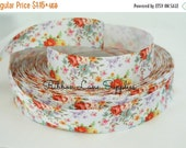 """Birthday Sale 7/8"""" Ribbon by the Yard-Vintage Floral  roses-Hair bows sewing crafts WHolesale by Ribbon Lane Supplies"""
