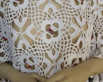 Crochet blouse,hand crochet shirt,Crochet Lace Top,Boho Crochet Blouse,women's sweater,hand crochet sweater,crochet tunic