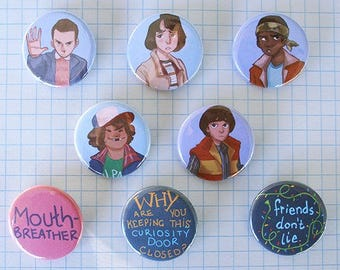Stranger Things buttons | set of 8 buttons