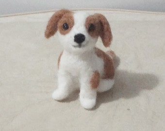 Sculpture Puppy Dog   - Needle Felt - OOAK