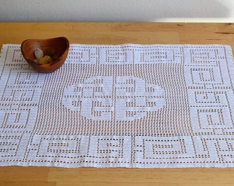 Celtic Block Center Piece Filet Crochet Pattern