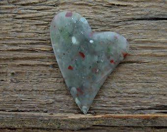 Old Stock Cherry Orchard Jasper Heart Cabochon