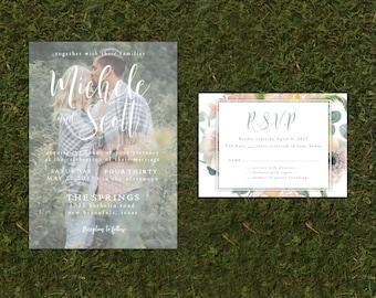 Custom Photo Wedding Invitation