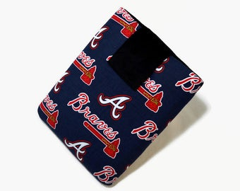 Tablet Case, iPad Cover, Atlanta Braves, MLB, Baseball, Kindle Fire Cover, 7, 8, 9, 10 inch Tablet Sleeve, Cozy, Handmade, FOAM Padding