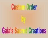 Custom Order for CZ Dark Turquoise Gold Seagull Ceramic Necklace
