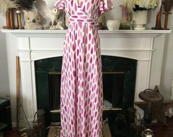 Purple Rain 70s Summer Maxi Dress