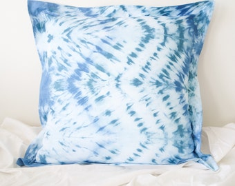 Hand Died Shibori Euro Size Pillowcase