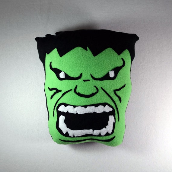 Hulk Decorative Pillow : Incredible Hulk Pillow Handmade Decorative Pillow Avengers