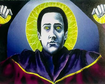 Saint Data- Star Trek Next Generation Digital Iconography Art of Android Commander Data- 5x7 Print and Fable- Sci Fi Geek Decor