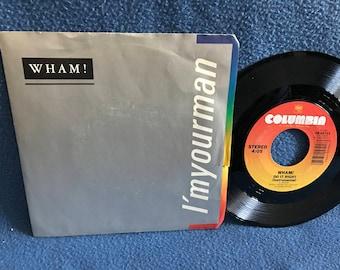 "Vintage, WHAM! - ""I'm Your Man / Do It Right"", 7"" 45 RPM Vinyl, Includes instrumental, George Michael, Pop Soul, Wham"
