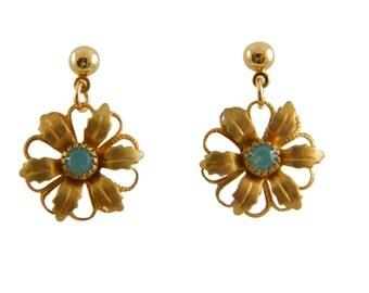 Pacific Opal Flower Earrings