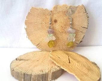 Amethyst & Quartz Earrings