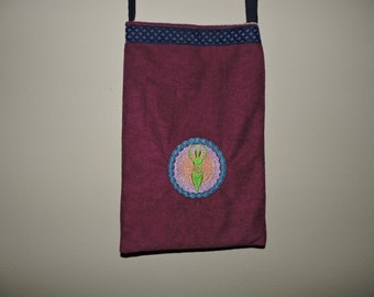 RTS OOAK Machine Embroidered Pouch Goddess Wicca pagan wiccan Gift purse shoulder bag pocketbook ready to ship