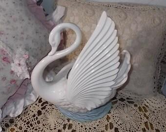 Swan Portable TV Lamp Planter Light , Maddux of California Lamp, Swan Lamp, TV Lamp, Swan, Swan Light, Vintage Home Decor,/:)s