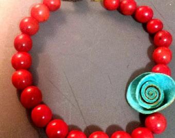 Calamarie Orange Peel Rose Necklace