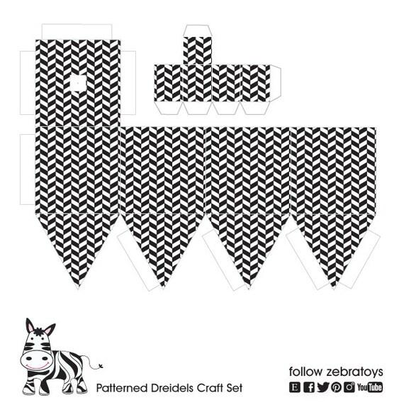hanukkah paper craft dreidel decorations6 printable diy