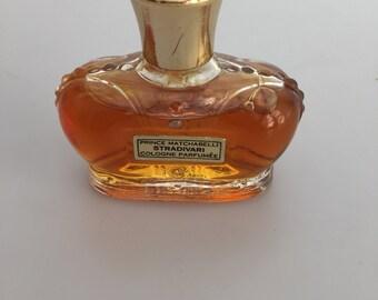 1950s Vintage PRINCE MATCHABELLI STRADIVARI Cologne Parfumee' Crown Bottle 1 Fl Oz Almost Full Commercial Perfume Bottle Vintage Fragrance