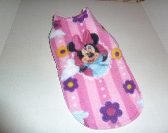 "XXS XLong - Minnie Mouse Fleece Dog Coat, Disney Minnie Winter Coat, (Extra Extra Small - Extra Long 12.5"")"