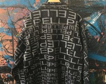 25% SALE 20 Vintage PELLE PELLE Marc Buchanan Oversize Run dmc 2Pac Style Hip Hop Swag Denim Bomber jacket Xl