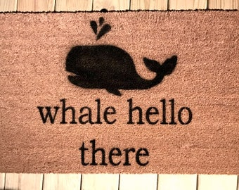 Whale Hello There Doormat/Welcome Mat/Rug