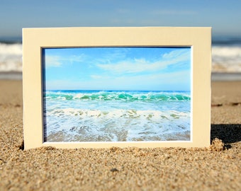 Ocean Waves Photography - Santa Monica Surf Photo Print - Beautiful Blue and Green Water -Size 8x10, 5x7, or 4x6