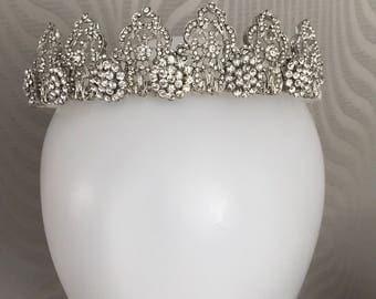 Bridal tiara, Bridal headpiece, 1920's headpiece , Tiara , 1930-1940s wedding