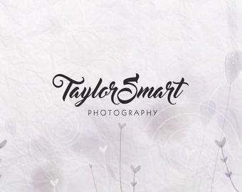 Font logo. Premade logo. Watermark