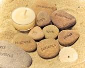 Fruit of the Spirit religious word stones, set of 9