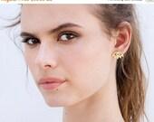 New Year SALE Evil eye earrings in silver or gold. Eye stud earrings.