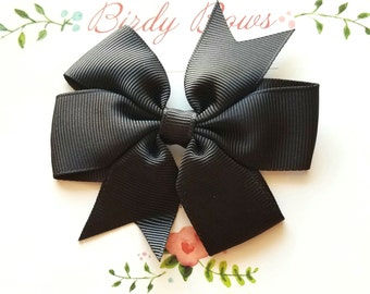 Black Bow Clip, Baby Headbands, Infant Headbands, Baby Girl Headbands, Infant Bow, Baby Bow, Girl Bow,Girl Headbands