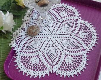 Large crochet doily Pineapple crochet doilies Crochet centerpiece Pineapple lace doily Crochet decoration Lace decor Flowr doily 367