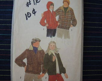 vintage 1970s Simplicity sewing pattern 8767 Mens lined jacket size 42-44