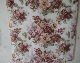 Vintage Glentex scarf acrylic floral flowers  30 x 31 inches