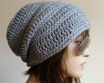 READY SHIP gift for women Hand Knit Hat Cloche Hat Gray Spring Fall Autumn Winter Accessories Fashion