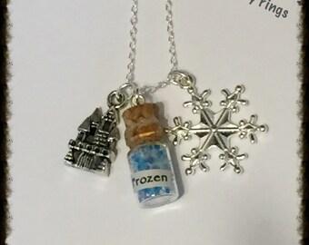 Frozen Bottle Charm Necklace