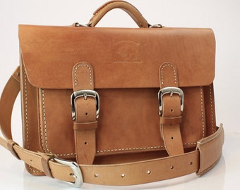 """Leather Briefcase Leather Satchel Leather Messenger Bag fits Macbook Pro 13"""" 002"""